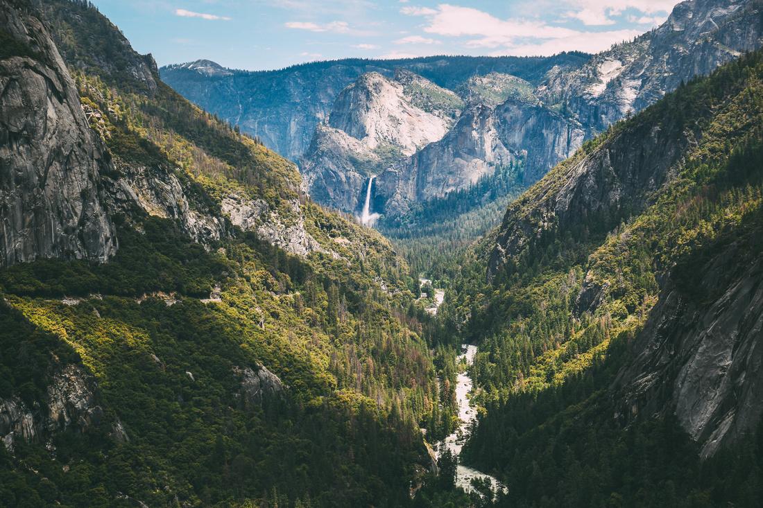 Viewpoint at Yosemite, CA